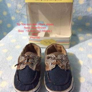 Tip Toe non-skid shoes Navy blue/Brown