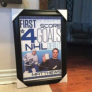 Auston Matthews framed Poster