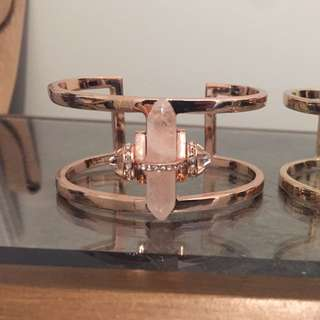 Samantha Wills Rose Gold Cuff with Rose Quartz