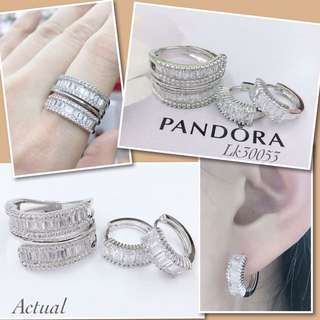 Pandora set Ring & earring