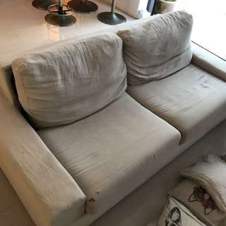 FREE sofa bed in linen.
