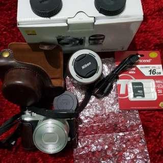 FS NIKON 1 J5 10-30mm 2nd like new + bonus leather case mulus