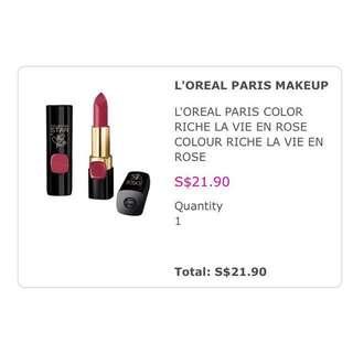 loreal paris colour riche lipstick