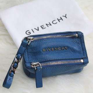 Brand New Givenchy Pandora Coin Pouch in Blue (Fall/Winter 2014 Collection) - Authentic