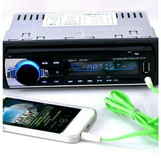 Car Radio 1Din Wireless Bluetooth
