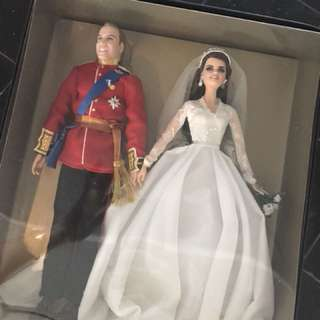 Current value $1000 Barbie William and Catherine Royal Wedding