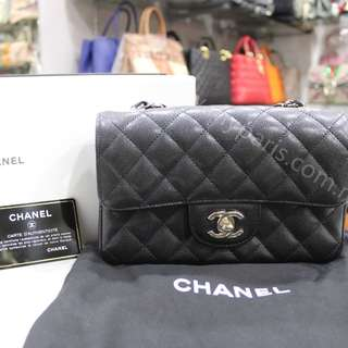 Chanel Black Caviar Mini Rectangular