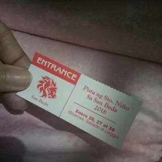Pista ng Sto. Niño ticket / FROLICS