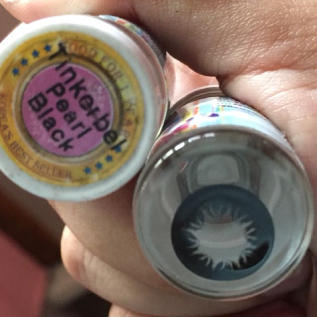 1 Year Contact Lens - Tinkerbell Pearl Black