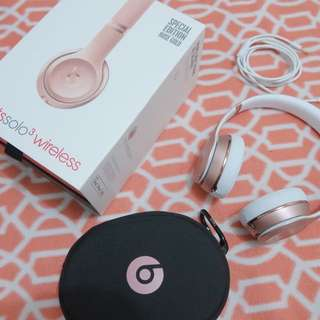 Beats solo 3 wireless (Rose Gold)