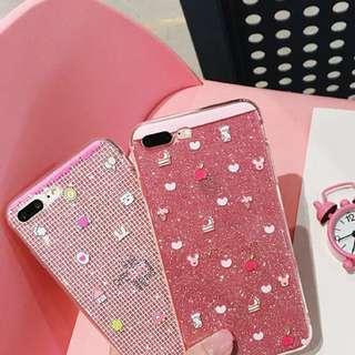PO(174) Tiny Pattern Heart Cake Rabbit Transparent OPPO Phone Case
