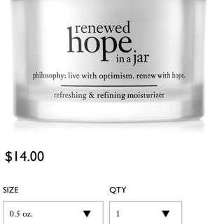 Philosophy refreshing and refining moisturiser