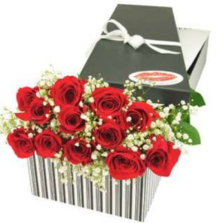12 Red Roses in Gifts Box - 0092