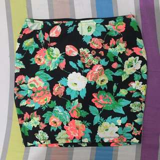 Pull And Bear Floral Skirt
