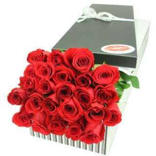 24 Red Roses In Gifts Box For Her - 0093