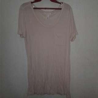 F21 plain blush pink shirt