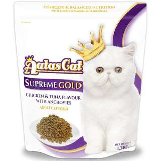 Cat Food aatas 1.2kg supreme gold
