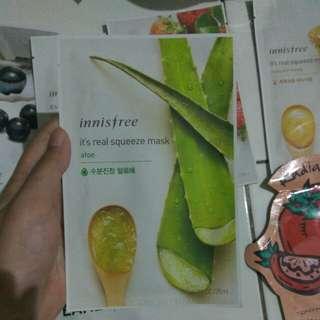 Innisfree mask aloe, pomegranate