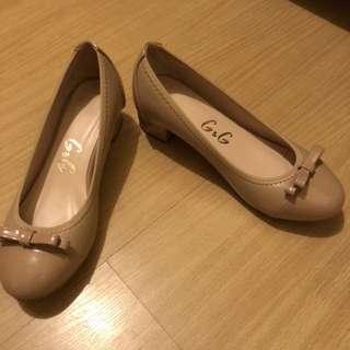 Tan Block Heeled Shoes