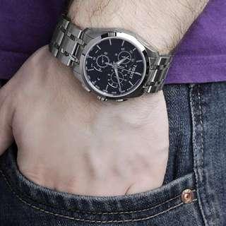 Tissot T-Trend Couturier Chronograph 天梭庫圖系列石英錶 多功能男錶 運動商務休閒 男士錶