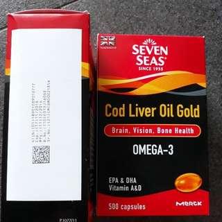 Brand New Seven Seas Cod Liver Oil Gold