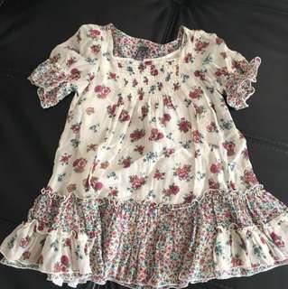 Buy 2 items for $8 - Zara Kids short sleeve floral dress -2-3 years