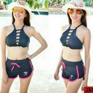 Swimwear 2pc Free size fits up semi L Navy blue color only