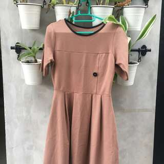 brown flair Dress