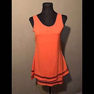 Korean Orange Dress
