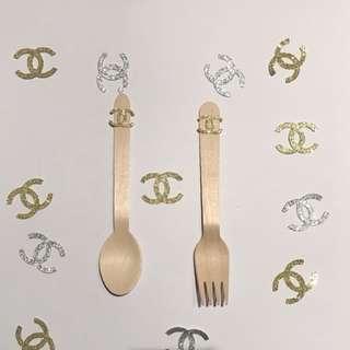 Wooden utensils inspired chanel