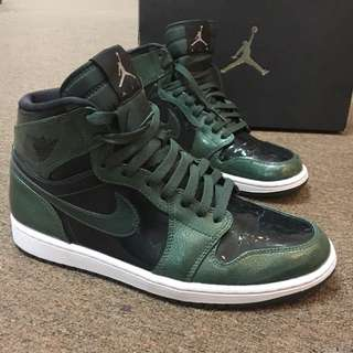 Air jordan 1 retro high grove green original