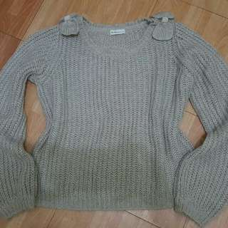 Knitted Gray Blouse