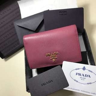 Prada wallet card holder