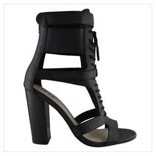 Iris leather heels