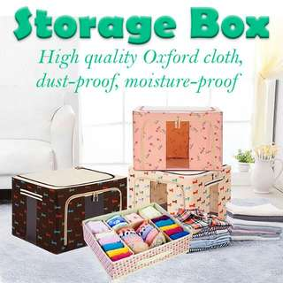 Storage Box foldable with Steel / Variety of colors / The pattern is very good
