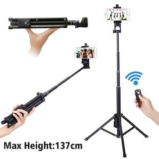 *NEW* Portable Handle Selfie Stick Mini Table Tripod Stand Monopod with Bluetooth Remote Shutter GoPro Action Camera iOS Android iphone iPad Samsung 1688