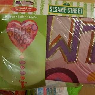 Elmo Loves You Helium Balloon