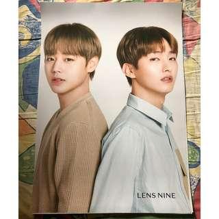 lensnine wanna one 朴志訓+尹智聖 海報