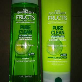 Garnier Pure Clean Shampoo Conditioner Set