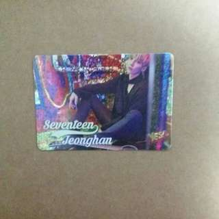 《Yes》29th yescard - SEVENTEEN JeongHan 閃 #2970(S)