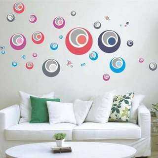 Colorful Bubbles Circles Wall Decal Sticker