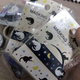 Moonlight kittens washi tapes