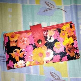 Red floral wallet