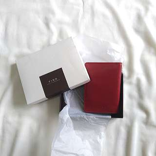 Fino Red Leather Passport Holder