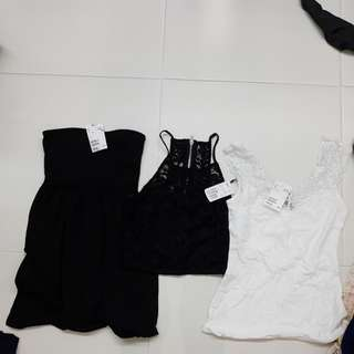 Bnwt F21 hnm tops and dresses