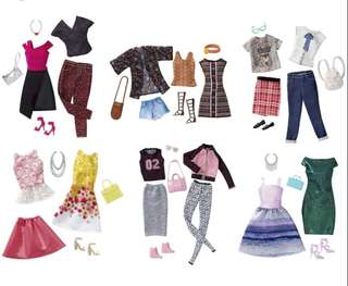 Looking for Barbie fashion packs/ clothes/ outfits