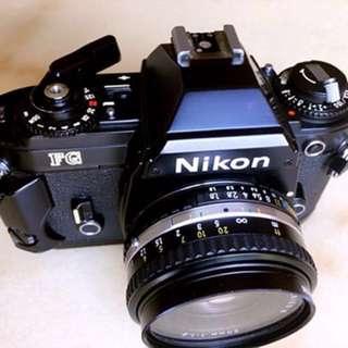 Nikon FG 35mm film SLR camera body only