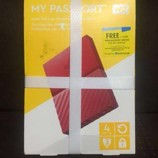 WD My passport 4TB backup portable harddisk