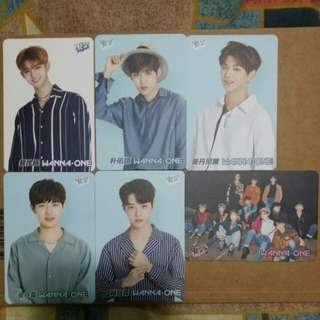 《Yes》29th yescard - Wanna One 白卡 #2948-51,#2954-55