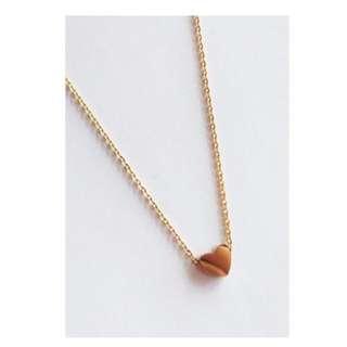 Tiny Gold Sweet Single Heart Necklace